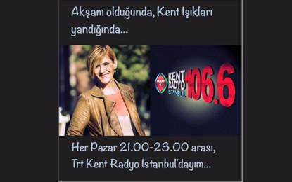 Sunucu Özge Uzun TRT Kent Radyo İstanbul'da!